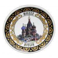 "Тарелка (на подставке) ""Москва"" Арт: TR-27"