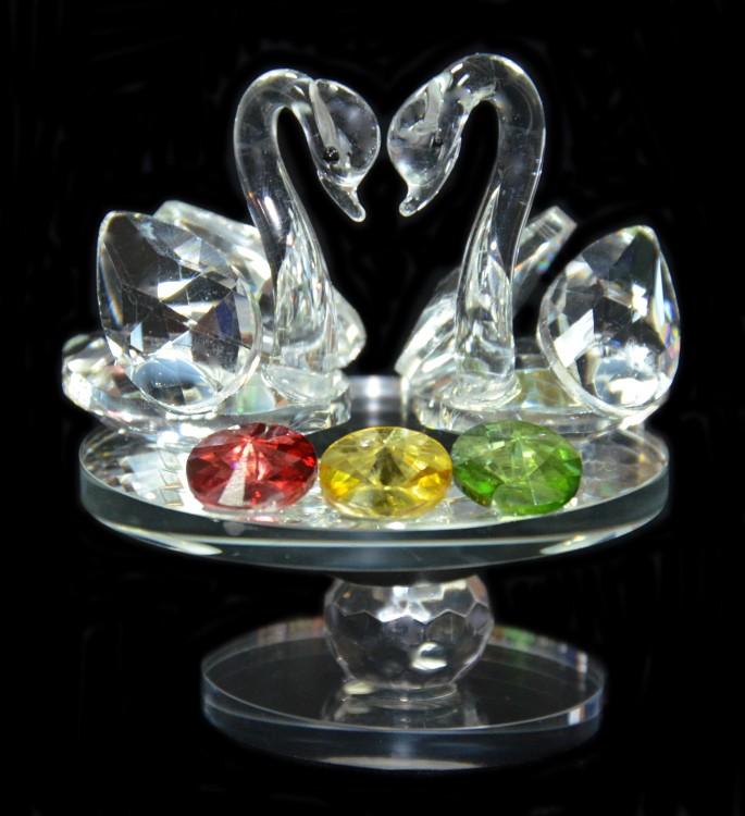 Лебеди с тремя камнями Арт: XH102-16
